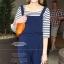 Cherry Dress เสื้อลายขวาง สีน้ำเงิน ผ้า Cotton ผสม Spandex thumbnail 4