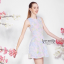 Ice Vanilla Sweet Pastel Floral Dress เดรสลายดอกไม้ สีพาสเทล thumbnail 3