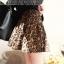 Leopard Trend กระโปรงสั้น ผ้าสักหลาด พิมพ์ลายเสือดาว thumbnail 2