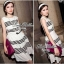 Lady Ribbon Stripe Mini Dress มินิเดรสลายขวางขาว-ดำ thumbnail 6