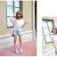 ChuViVi เสื้อสีชมพูลายจุด แต่งไหมพรมถัก เอวรูด thumbnail 6