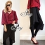 Sevy Long Sleeved Red Wine Shirt With Harlem Pants thumbnail 3