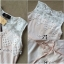 Lady Ribbon Top เสื้อแขนกุดผ้าคอตตอนตัดต่อลูกไม้สุดหวาน thumbnail 9
