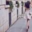 Lady Ribbon Floral Knit Ballerina Set เสื้อพร้อมกระโปรงตัดต่อผ้าแก้ว thumbnail 6