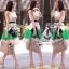Partysu Vivid Dress เดรสเกาหลีแขนกุดสีครีม กระโปรงทรง A thumbnail 3