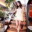 Fleur Blanc Mini Dress มินิเดรส ผ้าลูกไม้ ปักฉลุลายดอกไม้ thumbnail 6