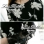 Lady Ribbon เดรสแขนยาวสีดำ ลายปักดอกไม้ขาว thumbnail 8