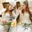 Lady Ribbon Lace Dress เดรสชีฟองแขนยาว ชายระบายลูกไม้ thumbnail 7