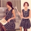 Black & White Tartan Mini Dress มินิเดรสแขนกุด ลายตาราง thumbnail 4