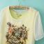 LILY เสื้อ พิมพ์ลายดอกไม้ ต่อผ้าชีฟอง ไซส์ S,M,L ขาว/เหลือง thumbnail 5