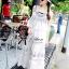 Lady Ribbon Bohemien Maxi Dress เดรสยาวผ้าชีฟองปักลาย thumbnail 1