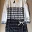 Lady Ribbon Black & White Tweet Mini Dress เก๋ เรียบหรู ไฮโซสุดๆ thumbnail 9