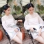 Lady Ribbon Mini Dress เดรสแขนยาว ซีทรูดีเทลอกฉลุรังผึ้ง thumbnail 11