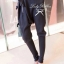 Lady Ribbon ชุดเซ็ตเสื้อถักลายทาง กางเกงขายาวทรงฮาเร็ม ผูกโบว์ช่วงเอว thumbnail 7
