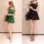 Partysu Layer Trim Dress เดรสแขนกุดกระโปรงระบายเป็นชั้นๆ thumbnail 1