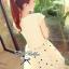 Lady Ribbon เดรสแขนลํ้าตัดต่อกระโปรงปักลายดาว ปักเลื่อมช่วงอก thumbnail 5