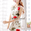 Seoul Secret Girly Red Blossom Print Camisole Dress thumbnail 7