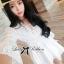 Lady Ribbon Classy Smocked Lace Dress thumbnail 5