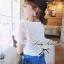Lady Ribbon White Crochet Blouse เสื้อลูกไม้โครเชต์ thumbnail 2