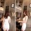 Ice Vanilla เดรสลูกไม้เกาหลี ทรงเข้ารูป สีขาว thumbnail 5