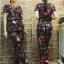 ชุดเซ็ทสไตล์ไฮแบรนด์ เสื้อพร้อมกางเกงเอวสูง พิมพ์ลายผีเสื้อ thumbnail 4