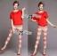 Lady Ribbon Set ชุดเซ็ทเสื้อและกางเกงพิมพ์ลายสีแดงสุดเปรี้ยว thumbnail 5