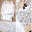 Lady Ribbon Mini Dress เดรสแขนยาว ซีทรูดีเทลอกฉลุรังผึ้ง thumbnail 13
