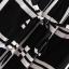 Urban Style Lady เดรสผ้าชีฟองสีดำ ลายตาราง ผูกโบว์ที่เอว thumbnail 7