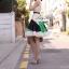 Partysu Vivid Dress เดรสเกาหลีแขนกุดสีครีม กระโปรงทรง A thumbnail 2