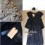 Lady Ribbon มินิเดรสผ้าชีฟองประดับเลื่อม กระโปรงผ้าลูกไม้ สีขาว สีดำ thumbnail 12