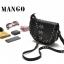 MANGO กระเป๋า สีดำคลาสสิค แต่งหมุด thumbnail 1