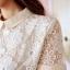 Cherry Dress เดรสสีขาว ผ้าตาข่ายถักไหมพรมลายดอกไม้ thumbnail 5