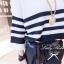 Lady Ribbon ชุดเซ็ตเสื้อถักลายทาง กางเกงขายาวทรงฮาเร็ม ผูกโบว์ช่วงเอว thumbnail 4