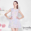 Ice Vanilla Sweet Pastel Floral Dress เดรสลายดอกไม้ สีพาสเทล thumbnail 4