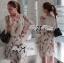 Lady Ribbon Chiffon Dress เดรสผ้าชีฟอง พิมพ์ลายขนนก thumbnail 4