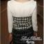 Lady Ribbon Black & White Tweet Mini Dress เก๋ เรียบหรู ไฮโซสุดๆ thumbnail 8