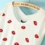 Red Lips Top เสื้อผ้ายืดสีขาว พิมพ์ลายรูปปาก thumbnail 4
