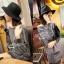 Lady Ribbon Casual Gray Stripe Long-sleeve Loose Mini Dress thumbnail 5