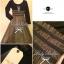 Lady Ribbon Fluffy Maxi Dress แม็กซี่ผ้ายืด กระโปรงผ้าซีทรู thumbnail 9