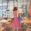 Odee Cutie Maxi Dress เดรสยาวสีแดง ลายดอก พร้อมเข็มขัดเข้าเซ็ท thumbnail 7