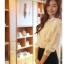 Cherry KOKO เสื้อผ้าไหมชีฟองสีขาว คอจีน แต่งระบายที่ไหล่ thumbnail 6
