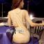 Lady Ribbon Maxi Dress ผ้ายืดเจอร์ซีย์ ตัดต่อเว้าหลังสุดเซ็กซี่ thumbnail 7