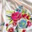 Ice Vanilla เดรสปักลายดอกกุหลาบ สีดำ สีชมพู Pastel thumbnail 12