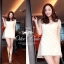 Fleur Blanc Mini Dress มินิเดรส ผ้าลูกไม้ ปักฉลุลายดอกไม้ thumbnail 10