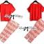 Lady Ribbon Set ชุดเซ็ทเสื้อและกางเกงพิมพ์ลายสีแดงสุดเปรี้ยว thumbnail 2