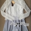 Lady Ribbon Lace Top with Jacquard Skirt Dress thumbnail 7