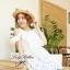 Lady Ribbon เดรสผ้าลูกไม้สีขาว ช่วงอกจีบระบาย เอวยางยืด thumbnail 6
