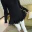 เสื้อตัวยาว ผ้าฝ้ายเนื้อผสม แต่งระบายผ้าชีฟองช่วงชายเสื้อ สีดำ thumbnail 4