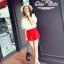 Odee Cutie ชุดเซ็ทเสื้อทรงเปิดไหล่ กางเกงขาสั้นสีแดง thumbnail 2