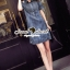 Seoul Secret Carroll Curve Shoulder Dimond Dress thumbnail 7
